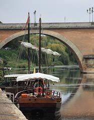 Au bord du fleuve de la Dordogne à Bergerac