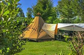 Hébergement en tente en Dordogne
