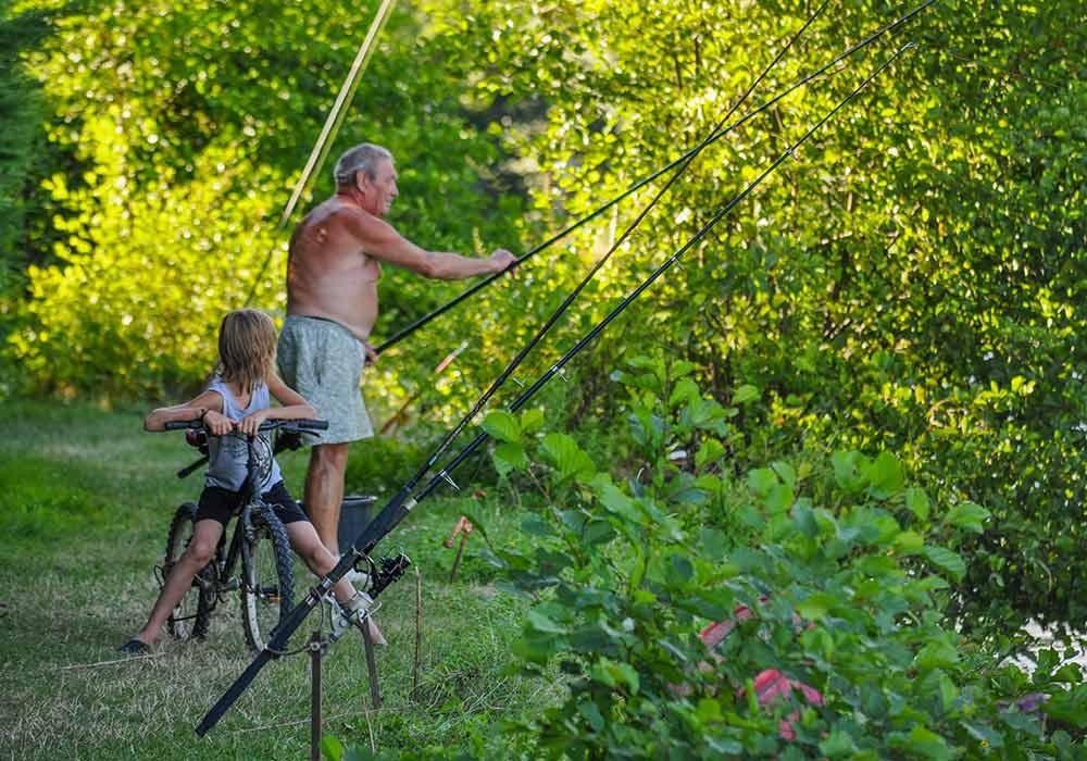 La pêche et le vélo en Gironde