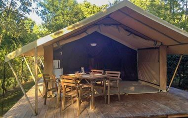 camping tente lodge location dordogne