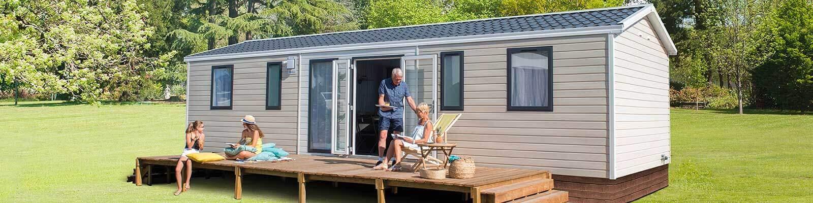 camping avec mobil-home pour famille en dordogne