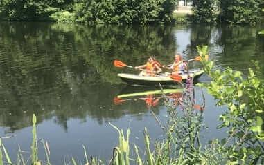 camper avec vue riviere